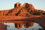 Cathedral Rock in Sedona glows at sunset